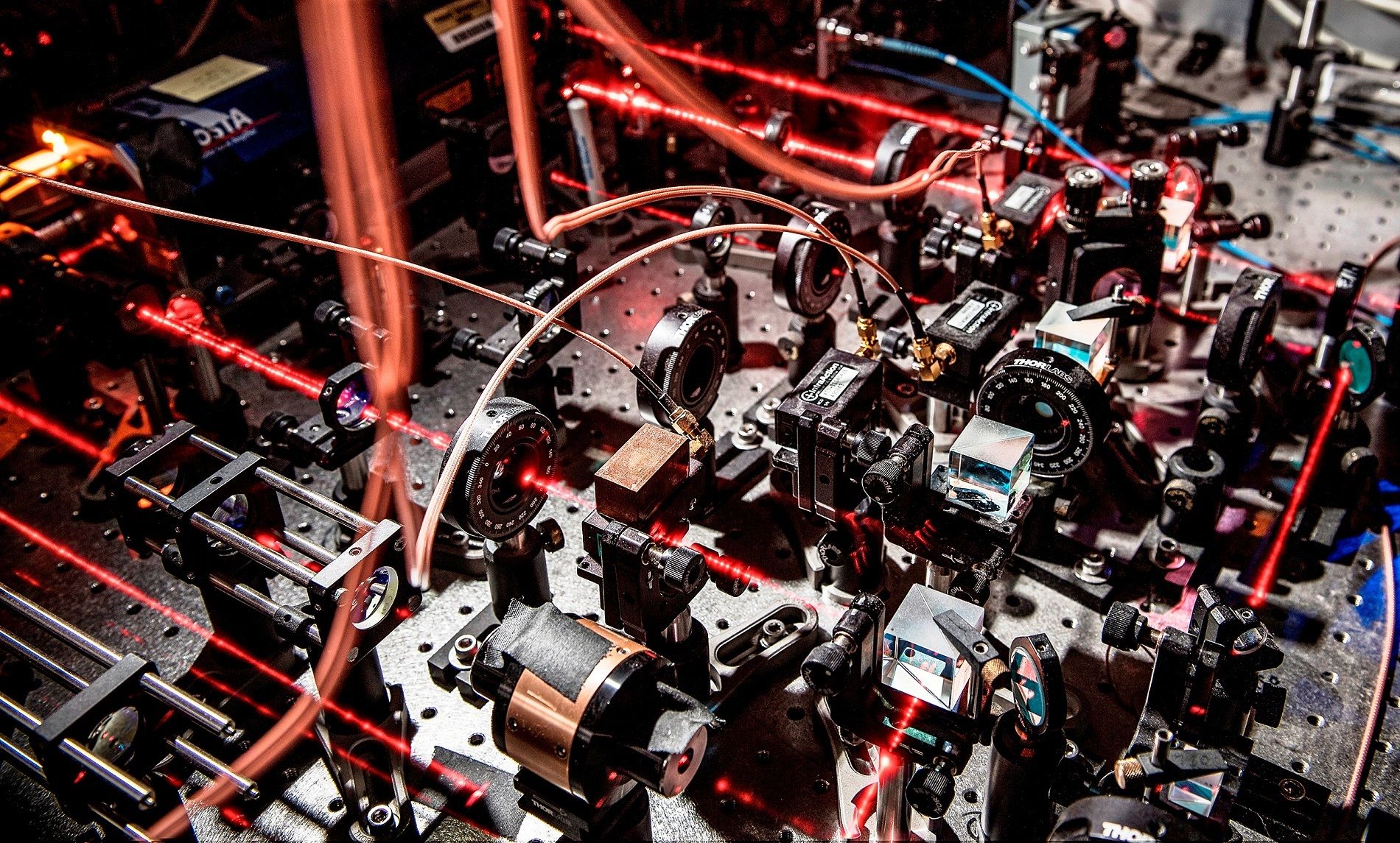 Purdue University researchers used lasers to trap and cool atoms down to nearly absolute zero, at which point they become a quantum fluid known as Bose-Einstein condensate, and collided condensates with opposite spins