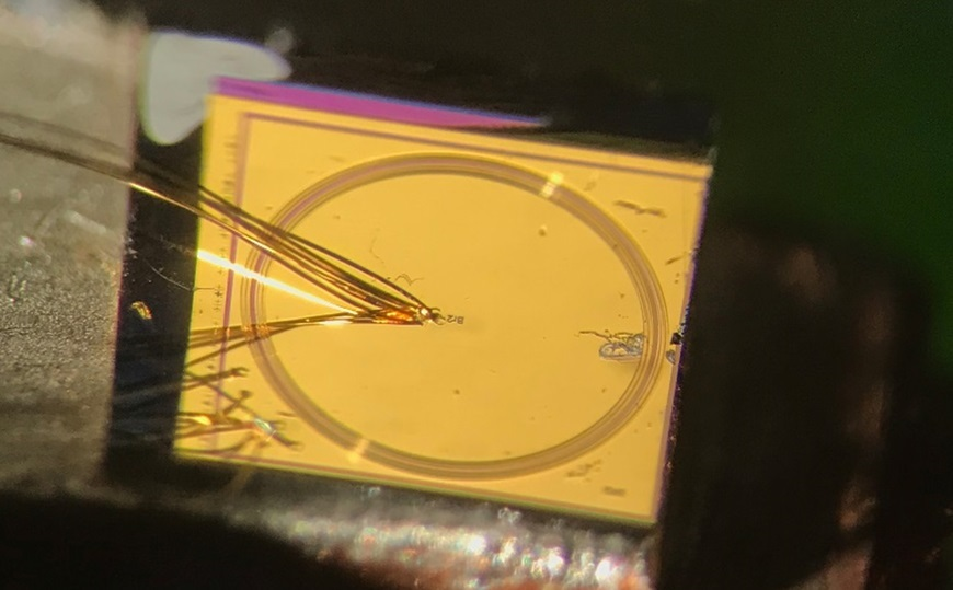 Microscope image of a ring laser