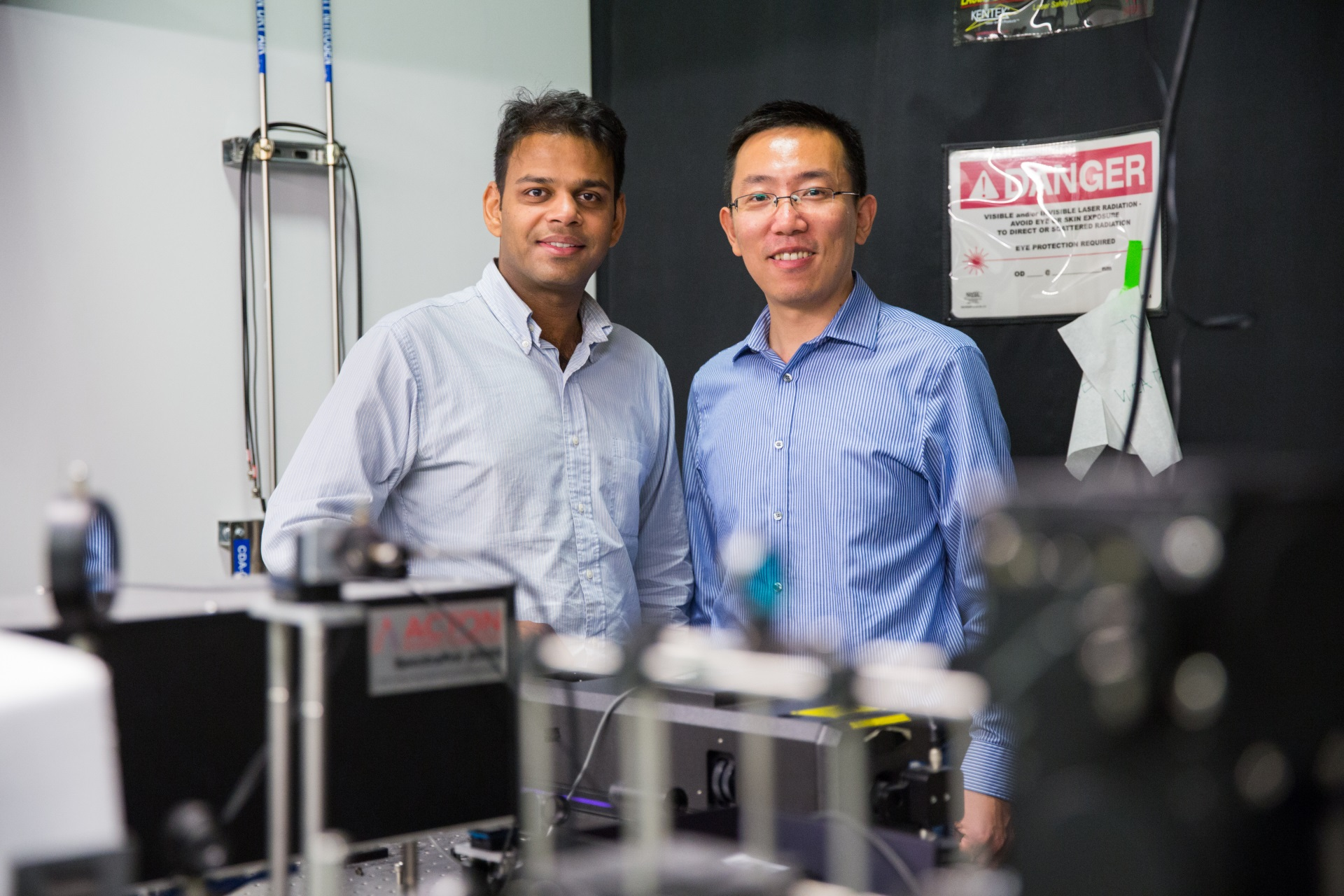 A pair of studies published in Science, led by Liang Feng and Ritesh Agarwal, describe novel ways of increasing information density in optical communication networks.