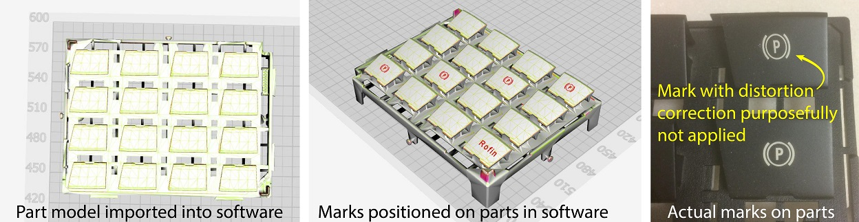 To utilize the SmartMap 3D marking system from Coherent, a CAD model of the part is imported into the software, and the user positions the desired marks on the piece.