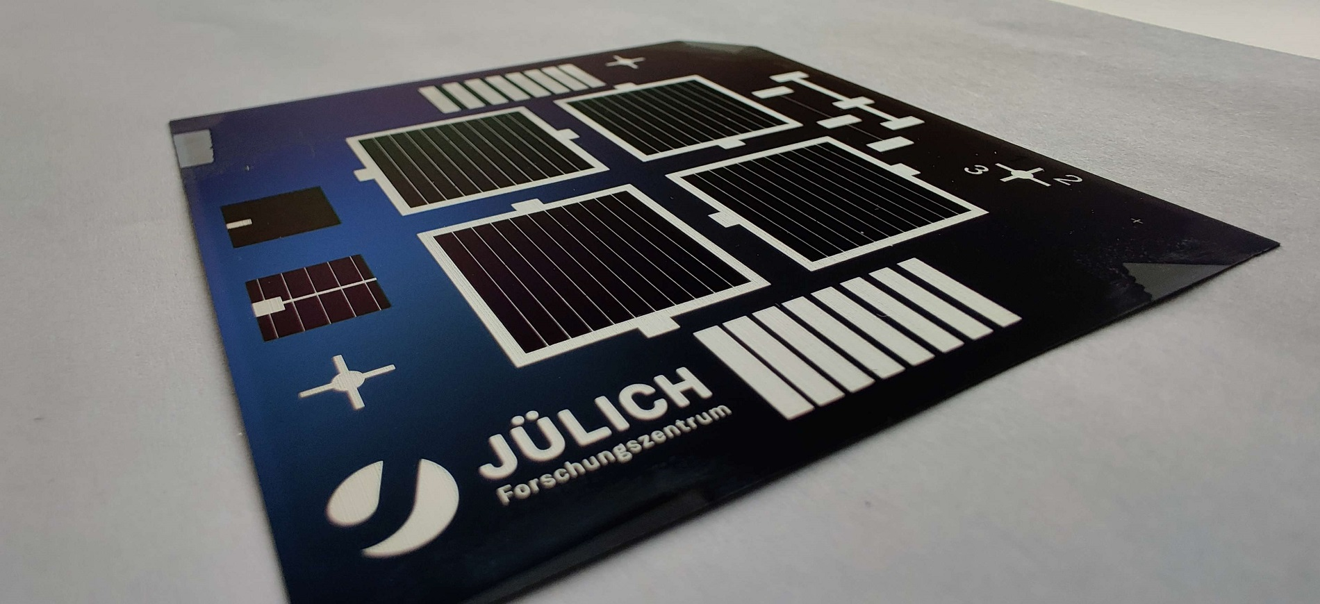 Prototype of the solar cells in laboratory size