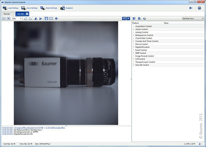 First picture with just one click: the new Baumer GAPI SDK