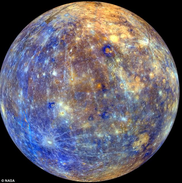 Mercury with colors enhanced