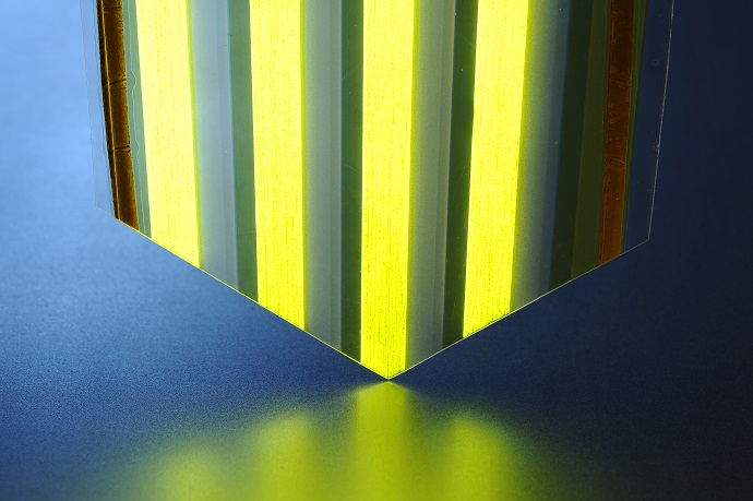 A large-surface light-emitting plastic film developed by VTT is based on OLED technology