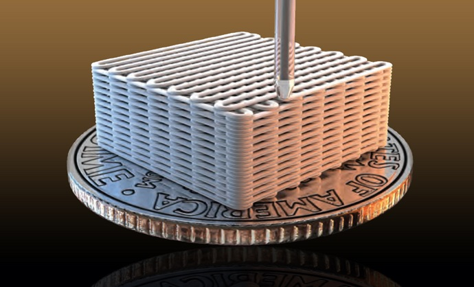 Lawrence Livermore researchers have made graphene aerogel microlattices with an engineered architecture via a 3D printing technique