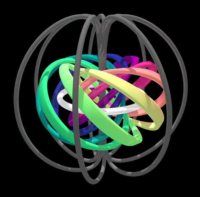 Topological structure of a quantum-mechanical knot soliton