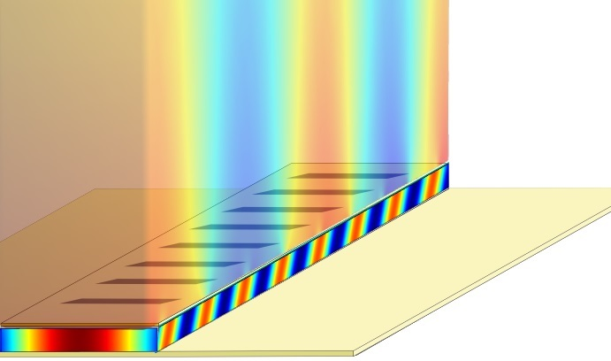 Terhertz Plasmonic Laser Illustration