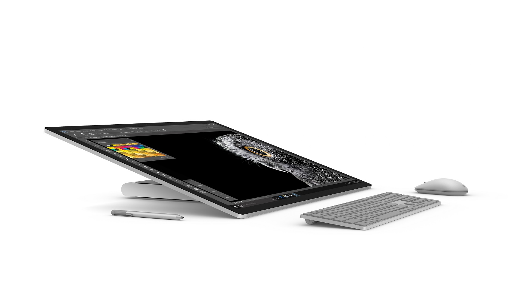 Surface Studio at a 20-degree angle in Studio Mode