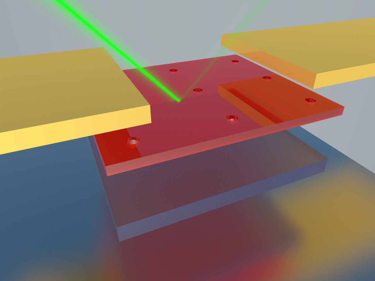 Tuned to absorb specific light wavelengths, the new photodetector consists of nanocavities sandwiched between a ultrathin single-crystal germanium top layer and reflective silver on the bottom