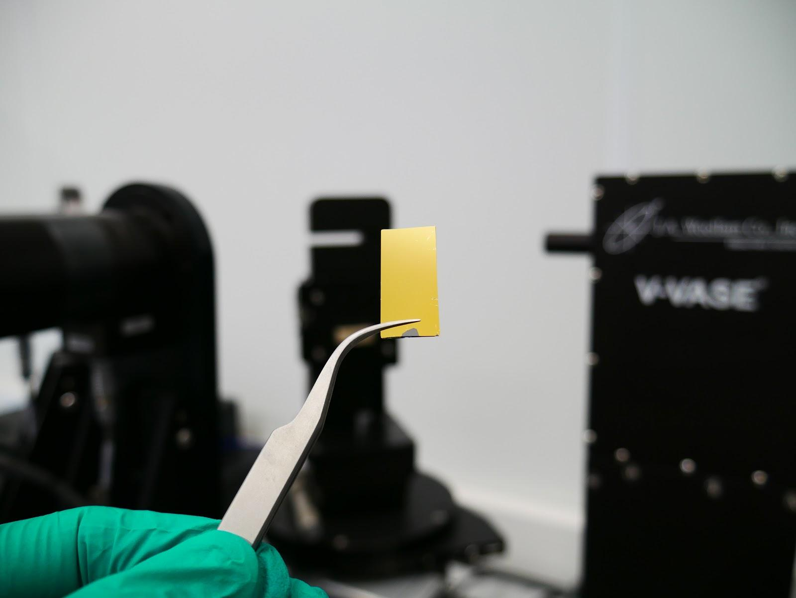 Preparation of a thin gold film sample for spectroscopic ellipsometry measurements