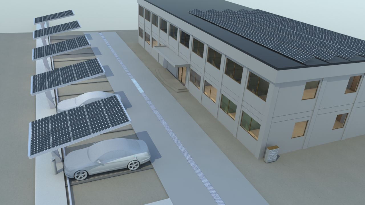 Direct high-speed charging of electric cars by solar panels